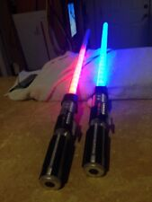 Pair Hasbro 2010 Star Wars Red/Blue LightSaber C-2945A, #A4571 Light Sabers
