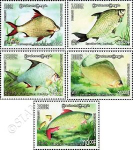 Freshwater fish -PERFORATED- (MNH)