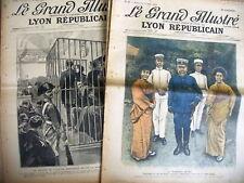 LE GRAND ILLUSTRE supp actualité LYON REPUBLICAIN 1904 lot 8 numéros 27 à 41
