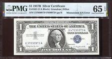 1957-B $1 Silver Certificate Mismatched Serial # U37/U47 PMG Gem Unc 65EPQ