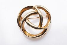 Vintage 1960s $3000 INFINITY Tiffany & Co 14k Yellow Gold Brooch Pin 8.8g