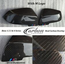 BMW CARBON FIBRE MIRROR COVERS WITH M LOGO F20 F22 F30 F31 F33 FOR 1 3 4 series
