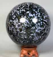 4.82lb Large MERLINITE Mystic Tumbled Ball Stone Magic Shaman Psilomelane Gabbro