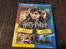 Harry Potter Deathly Hallows 1 & 2 (2 in 1 Blu-Ray + Digital) NEW SLIP COVER