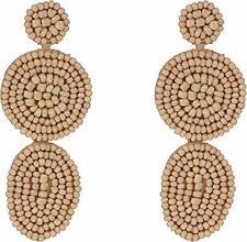 Disc Earrings (Style: E29879R3) Rebecca Minkoff Linear Beaded