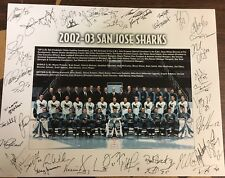 2002-03 San Jose Sharks team photo print 11x14 SEASON TICKET HOLDER EXCLUSIVE