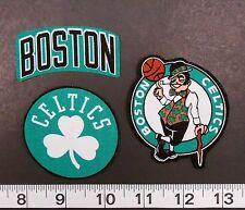 Boston Celtics NBA Team Fabric Iron On Applique Patch Logo DIY Craft NO SEW 3pc