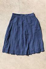 New J Crew Double-pleated Midi Skirt in Polka Dot Union Blue Size 2 J8169