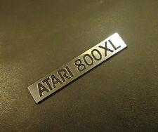 Atari 800 XL Label / Logo / Sticker / Badge brushed aluminum 48 x 9 mm [287b]