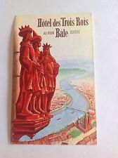 Vintage Luggage Label Hotel des Trois Rois, Bale, Switzerland