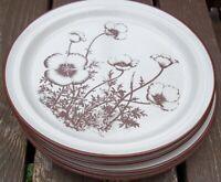 SET  OF 4   NORITAKE  DESERT FLOWERS  DINNER  PLATES    10 5/8 inches acros