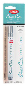 Chrome (Silver) Short Cuts Paint Pen by Krylon no. SCP-902 NEW