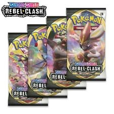 Pokemon Sword and Shield Rebel Clash Cards I 4 Booster Packs I New & Sealed