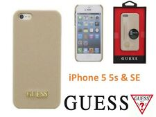 Genuine Guess Saffiano Collection Hard Case for Apple iPhone 5s & 5SE  - Beige