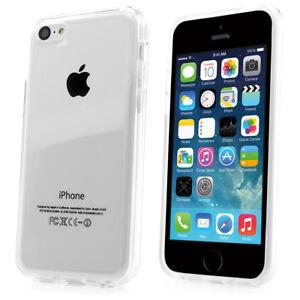 Apple iPhone 5C TPU Handytasche Silikon Case Handy Hülle transparent weiss