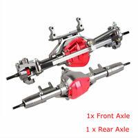 2Pcs CNC Front + Rear Rock Axle Set for Axial Honcho Jeep SCX10 D90 1/10 RC Car
