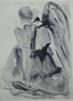 Salvador Dali: Paradise 2 - ENGEL - Gravur Original Signiert # Göttliche Komödie