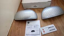New Genuine Fiat 500L Door Mirror Caps Covers Silver Alloy Effect 50927036