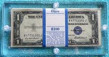 1935-F $1 100-Consecutive One Dollar Bill Silver Certificate Sequential