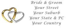 48 LARGE PERSONALISED WEDDING INVITATION RETURN ADDRESS LABEL STICKERS RINGS