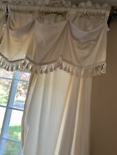 Formal Curtain Panels With Valences Beige 94 Length