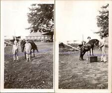 1920s Svendsen Farm Family Gordon Donald Boys Trick Pony Photos Photographs