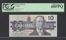 Canada 10 Dollars 1989 BC-57b Uncirculated Graded 68