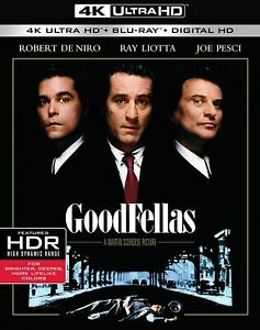 Goodfellas (Robert De Niro Joe Pesci) Region 4K Ultra HD Blu-ray + Digital
