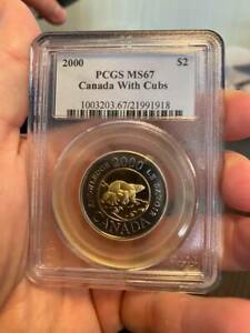 2000 Canada Two Dollar with Cubs PCGS MS 67  -  TOONIE