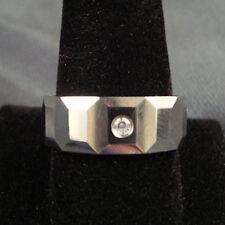 Men Tungsten Carbide Multi Ridge with CZ Stone Wedding Band Ring 8mm size 9-13