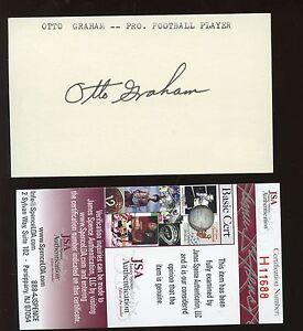 Otto Graham Autographed Index Card JSA
