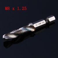 """M3-M10 1/4"""" Hex Shank HSS Metric Hand Screw Thread Tap Taper & Drill Bit Tool ZZ"""