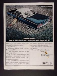 1966 Chrysler 300 2-door Hardtop blue car photo vintage print Ad