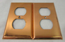 Lot of 2 Vintage Copper Outlet Covers, Unbranded, Good