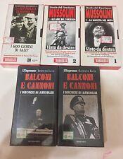I DISCORSI DI MUSSOLINI,STORIA DEL FASCISMO,VHS ISTITUTO LUCE