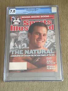 2002 Sports Illustrated Tom Brady RC 1ST ISSUE CGC 7.0 WHITE PAGES NEWSSTAND
