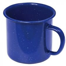 Enamel Mug Cup 8 cm Blue Coffee Tea Water Camp Home Work Traditional Vintage
