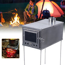 Bbq Tent Wood Burning Stove W/chimney Multipurpose Camping Heating Wood Camping