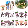 Accessories Miniature Table and Chairs  Mini Ornaments Fairy Garden Landscape