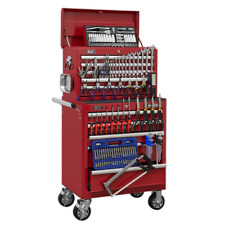 Toolbox Rollcab 10 Drawer STACK Ball Bearing Slides RED 147pce TOOLKIT