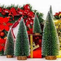 Mini Christmas Tree With LED Light Ornaments Festival Table Decor Xmas Gift
