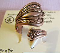 ARTHRITIS Solid Copper  Adjustable SPOON Ring     New With Tags 1795C2