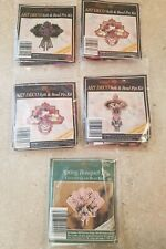 Lot of 5 Miill Hil Art Deco & Spring Bouquet Beaded Pin Kits