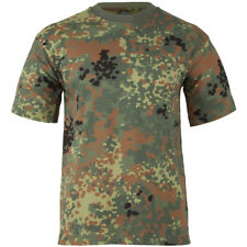 Army Mens Top Combat T-shirt Military Tee BW Flecktarn German Camouflage 170cm