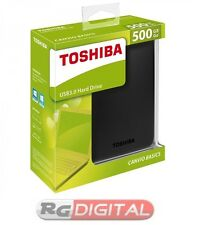 "HARD DISK HD ESTERNO 500GB 2,5"" AUTOALIMENTATO HDX HDD TOSHIBA 3.0 BASICS"