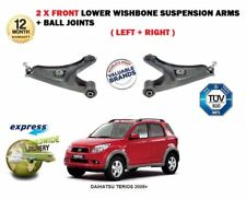 FOR DAIHATSU TERIOS 2006-> 2X FRONT LEFT + RIGHT LOWER SUSPENSION WISHBONE ARMS