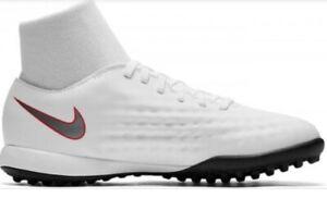 New Kids Nike Jr Obrax 2 Academy TF White Black Turf Football Trainers Size UK 4