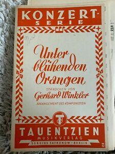 Noten Salonorchester Unter blühenden Orangen v. Gerh. Winkler - Tauentzien-Verl.