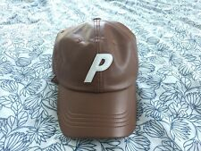 PALACE SKATEBOARDS BROWN LEATHER HAT, PALASONIC, DAD HAT, NOT A FIVE PANEL
