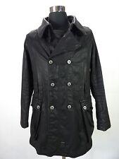 Mens Stylish G-STAR waxed coat, jacket, size M, S, black jacket trenchcoat DR394